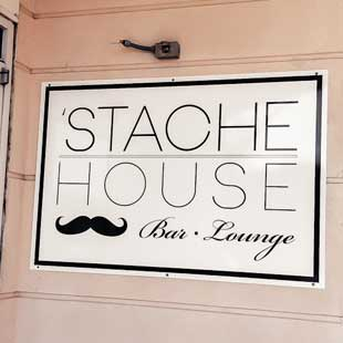'Stache House Door Signage