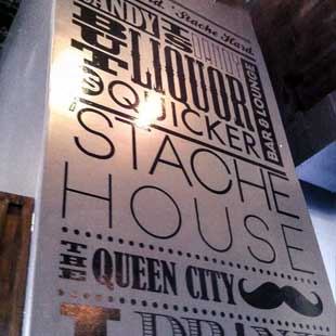 'Stache House Typography Wall