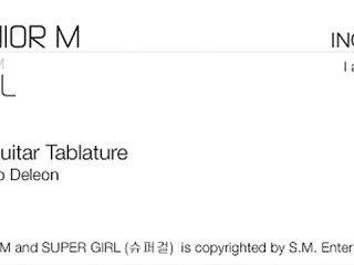 Guitar Tab - SUPER JUNIOR M - SUPER GIRL (슈퍼걸)